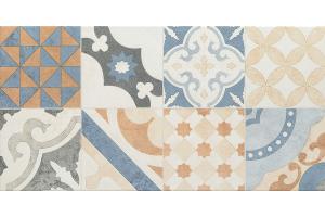 Neutral beige patchwork