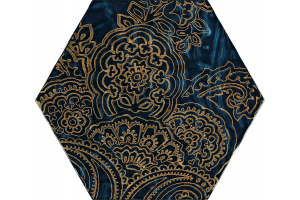 URBAN COLOURS BLUE INSERTO SZKLANE HEKSAGON B